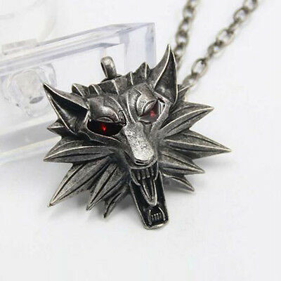 The Witcher Medallion Pendant Wolf Head For Necklace Chain Geralt Of Rivia Game
