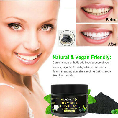 Bamboo Charcoal Natural Vegan Teeth Tooth Dental Care Whitening Cleaning Powder