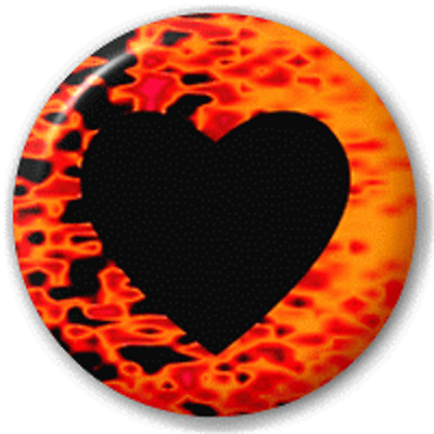 Flaming Heart – 25 Mm Pin Button Badge