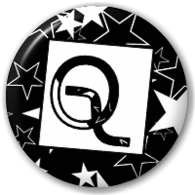 Stars Letter Q – 25 Mm Pin Button Badge