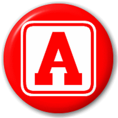 Block Letter A – 25 Mm Pin Button Badge