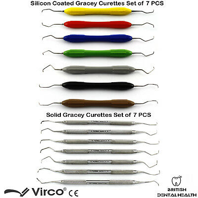 Dental Silicone Coated Grip And Solid Gracey Curettes Periodontal Root Scaler Ce