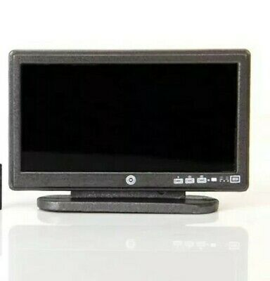 Miniature Dolls House Accessories Digital TV with Remote Control 1:12th scale