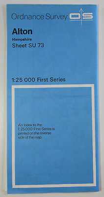 1972 old vintage OS Ordnance Survey 1:25000 First Series Map SU 73 Alton (Hants)