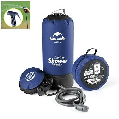 Portable Hiking Shower Pressure Water Bag With Foot Pump 11L Ultralight Foldable