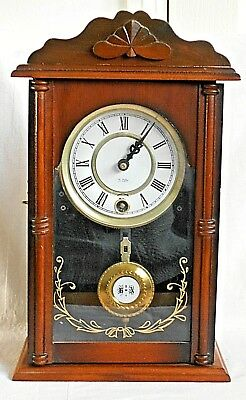 Wooden Mantel Clock With 31 Day Movement