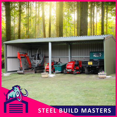 OPEN SIDE BUILDING BY STEEL BUILD MASTERS (3.6m W x 6m L x 2.4m H)