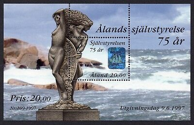 Aland - Souvenir Sheet featuring 2-Channel Hologram - Issued 1997, MNH