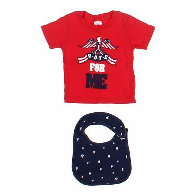 Little Teez Baby Boys T-shirt, size 6 mo,  red, blue/navy,  cotton