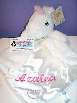 Unicorn Pink Luvster Personalized Security Memorial Blanket Baby Blankie