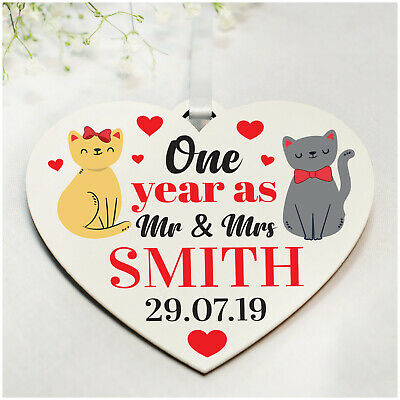1st 10th Wedding Anniversary Gifts Personalised For Husband Wife Cat Couple Gift Eur 4 39 Picclick It