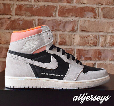 reputable site 20875 83f49 DS Nike Air Jordan 1 Retro High OG Neutral Grey Hyper Crimson 555088-018  Size