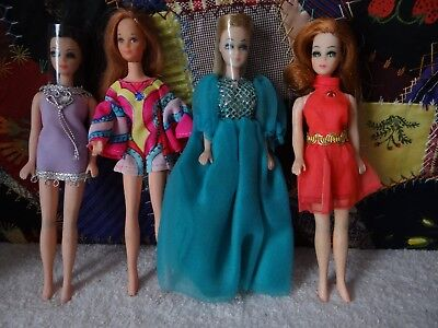 Lot of Three Vintage Topper Dawn Dolls & Extra. as is
