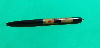 Vintage FLOATY PEN Fibre Optical Spark. undressing woman Ballpoint DENMARK