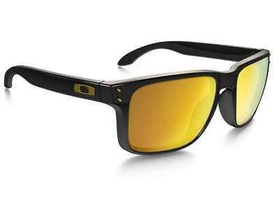 e59dbdcc11 Oakley Holbrook Sunglasses OO9102-E355 Polished Black W  24K Gold Iridium  Lens