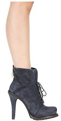 fe9f4475cf98 Elizabeth and James Suede Navy 5 Inch High Heel Boots Size 7.5