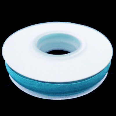 Turquoise Silicone Backed Fold Over Elastic - 5 Yards Roll