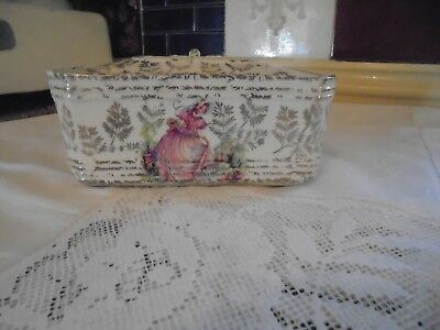 A Vintage Pottery Butter Dish - Pretty Tableware