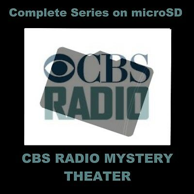 CBS RADIO MYSTERY THEATER. ENJOY THE ENTIRE SERIES (1399 SHOWS) ON A micrSD CARD