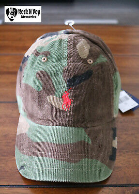 aa32858fdd7 Polo Ralph Lauren Men s Pony Corduroy Camo Cap OSFA 100% Cotton NWT Well  Packed!