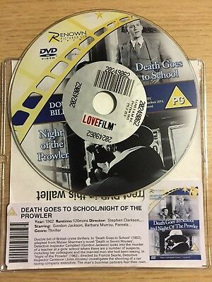 Death Goes To School / Night Of The Prowler (DVD, 1962) DISC ONLY