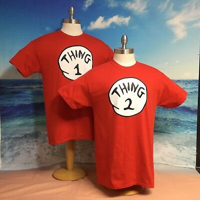 0738d233 thing 1 thing 2 shirts nice cute Funny Size from Newborn - Adult 5X