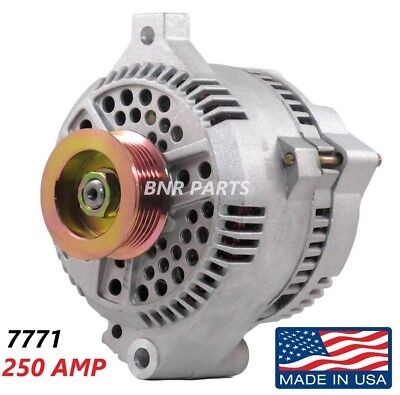 250 AMP 7771 Alternator Ford Mustang Mercury High Output Performance HD NEW USA