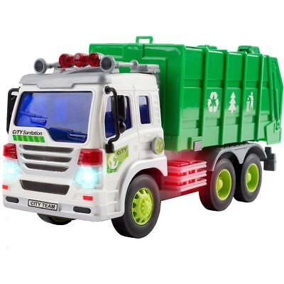 Garbage Truck Toys for 3 Year Old Boys and Girls - Friction Powered Toy Cars for