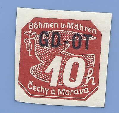 Nazi Germany Third Reich B&M 1939 Newspaper Overprint Stamp  MNH WW2 Era