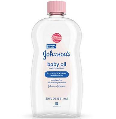 Johnsons Baby Oil Improved Formula - 20 Oz - Pack of 3