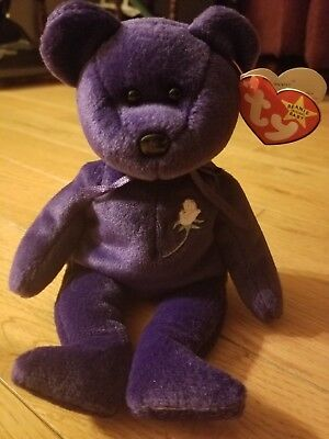 Princess Diana TY Beanie Baby. Rare and retired. Original owner. Vintage  1997. 7ce4b783ed43