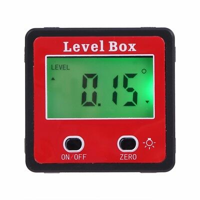 4*90° Digital Inclinometer Level Box Angle Finder Bevel Gauge Magnet Protractor