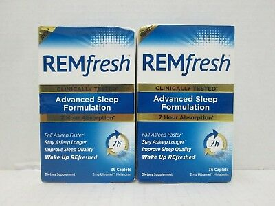 Discounted 3 Boxs Remfresh Advanced Sleep Formulation 36 Caplets =108 12/2018