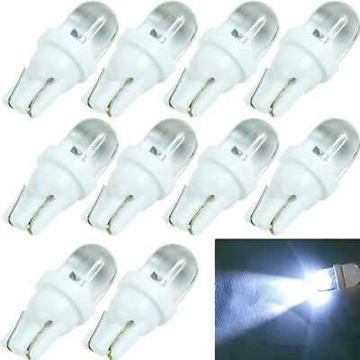 10Pieces T10 194 168 158 W5W 501 White LED Side Car Wedge Light Lamp Bulb DC 12V