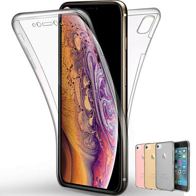 Slim Thin 360° Full Body Soft Clear Transparent Case Cover For iPhone XS Max XR