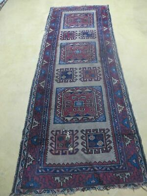 "2' 5"" X 7' Antique Hand Made Turkish Sparta Oushak Wool Runner Rug AS IS"