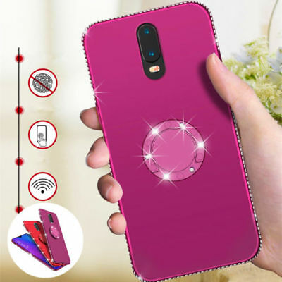 For OPPO AX5 A83 A5 R17 Pro F9 Luxury Ring Holder Crystal Bumper TPU Case Cover
