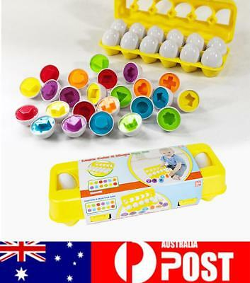 Geometric Pairing Eggs Kids Learning Educational Toys Mixed Shape Wise Puzzle