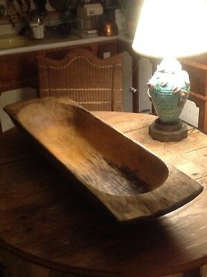 Antique Large Wood Dough Bowl 41 3 4