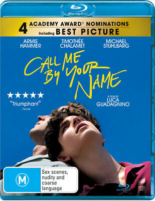 Call Me By Your Name  - BLU-RAY - NEW Region B
