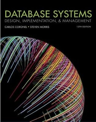 PDF VERSION! BEST! Database Systems: Design, Implementation and Management.13th