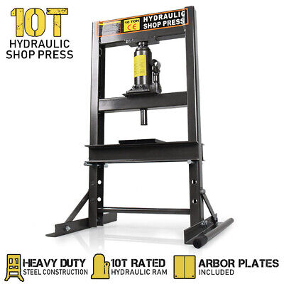 10 Ton Hydraulic Shop Press Workshop Jack Stand Garage Bending Bearing Tool