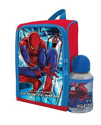 Spiderman Lunch Backpack Bag with Juice Bottle