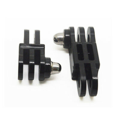 Long/Short Straight Joint Adapter Mount Set For GoPro Sports Camera ABS Black
