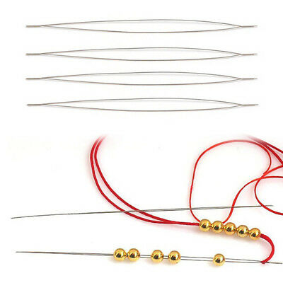 1PC Big Eye Curved Beading Needles for Beads and Pearls Threading String Cord