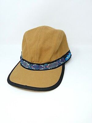 0e907e11ec3 VTG Kavu Hat Dark Khaki Canvas 4 Panel Large Cap Adjustable Ball Cap Tribal  USA