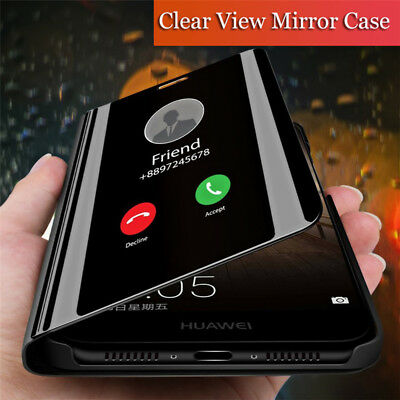 For Huawei Honor View 20 V20 View 10 Smart Mirror Flip Leather Stand Case Cover
