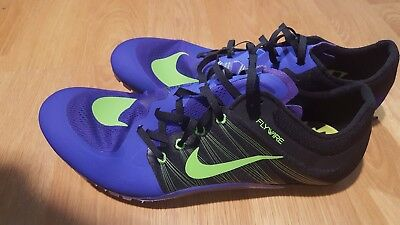 new style 42316 da2d2 NIKE ZOOM JA FLY 2 II SPIKEs Purple Blue Volt Green Neon Mens 15 Track shoes
