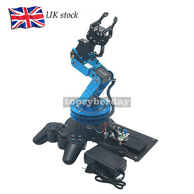 LeArm Unassembled 6DOF Mechnical Robotic Arm with Digital Servo & PS2 Handle #UK