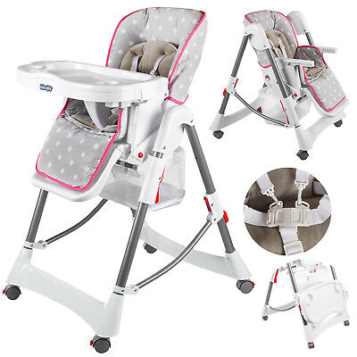 Highchair Feeding Recliner Seat Foldable Baby Toddler Infant KINDERSAFETY KP0005